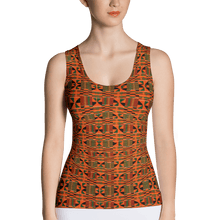 Load image into Gallery viewer, Orange Kente African Print Tank Top YaYa+Rule