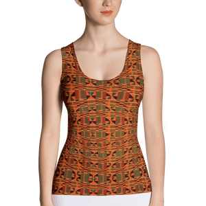 Orange Kente African Print Tank Top YaYa+Rule
