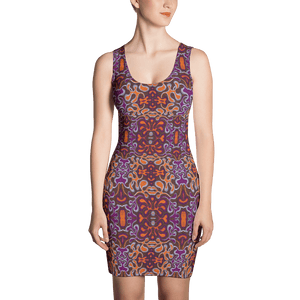 Orange Purple African Print Dress YaYa+Rule