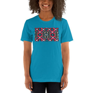 Pink African Print Color Short-Sleeve Unisex T-Shirt YaYa+Rule
