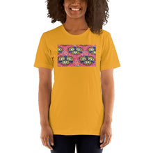 Load image into Gallery viewer, Pink Flower African Print Color Short-Sleeve Unisex T-Shirt YaYa+Rule