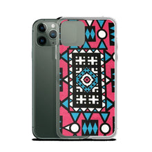 Load image into Gallery viewer, Pink & Blue African Print iPhone Case YaYa+Rule