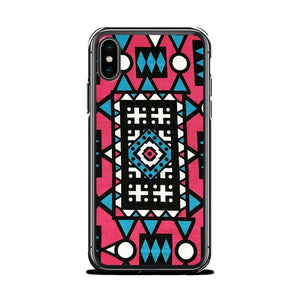 Pink & Blue African Print iPhone Case YaYa+Rule