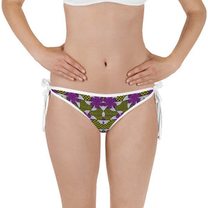 Purple Yellow African Print Bikini Bottom YaYa+Rule