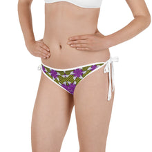 Load image into Gallery viewer, Purple Yellow African Print Bikini Bottom YaYa+Rule