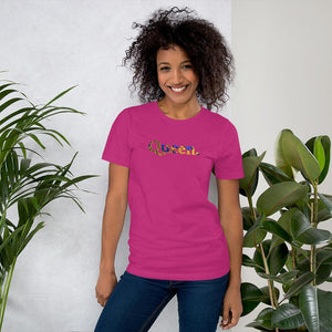 Queen African Print Color Short-Sleeve Unisex T-Shirt YaYa+Rule
