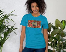 Load image into Gallery viewer, Red African Print Color Short-Sleeve Unisex T-Shirt YaYa+Rule