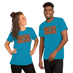 Red African Print Color Short-Sleeve Unisex T-Shirt YaYa+Rule