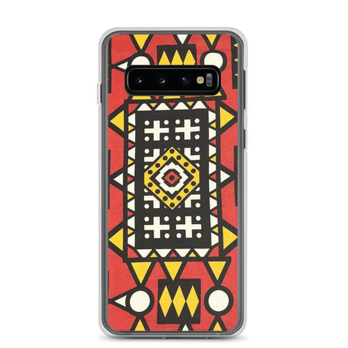 Red African Print Samsung Case YaYa+Rule