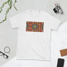 Load image into Gallery viewer, Red African Print Short-Sleeve Unisex T-Shirt YaYa+Rule