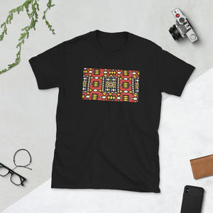 Red African Print Short-Sleeve Unisex T-Shirt YaYa+Rule