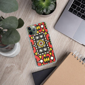 Red African Print iPhone Case YaYa+Rule