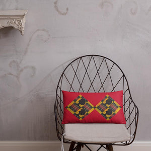 Red Afro African Print Pillow YaYa+Rule