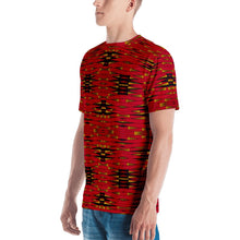 Load image into Gallery viewer, Red Black African Print Men's T-shirt YaYa+Rule