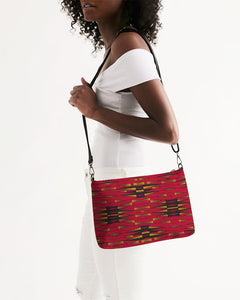 Red Gold African Print Daily Zip Pouch YaYa+Rule