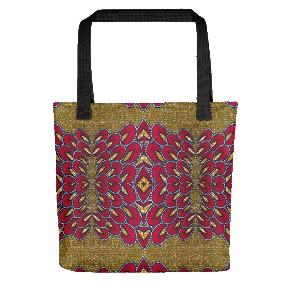 Red Gold African Print Tote bag YaYa+Rule