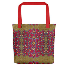 Load image into Gallery viewer, Red Gold African Print Tote bag YaYa+Rule