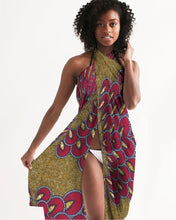 Load image into Gallery viewer, Red Gold African print Swim Cover Up YaYa+Rule