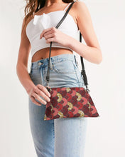 Load image into Gallery viewer, Red Mustard African Print Wristlet YaYa+Rule