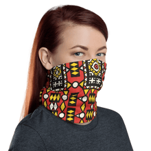 Load image into Gallery viewer, Red Yellow African Print Neck Gaiter YaYa+Rule