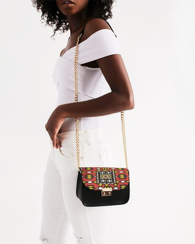 Red Yellow African Print Small Should Bag Small Shoulder Bag YaYa+Rule