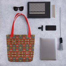 Load image into Gallery viewer, Red Yellow African Print Tote bag YaYa+Rule