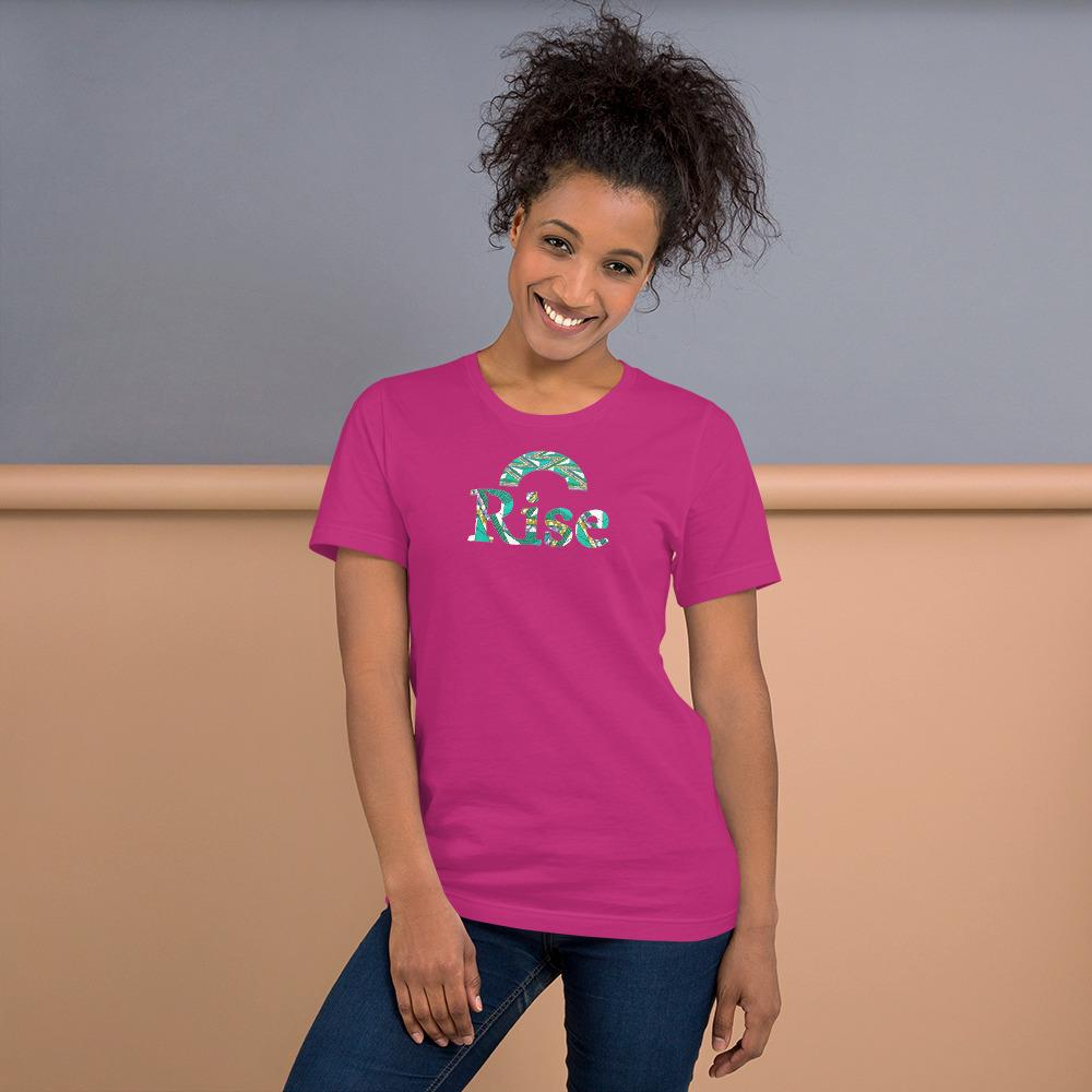 Rise African Print Color Short-Sleeve Unisex T-Shirt YaYa+Rule