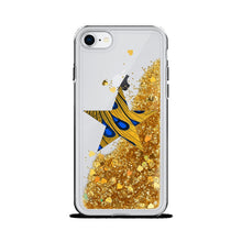 Load image into Gallery viewer, Star African Print Liquid Glitter Phone Case YaYa+Rule