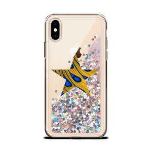 Star African Print Liquid Glitter Phone Case YaYa+Rule