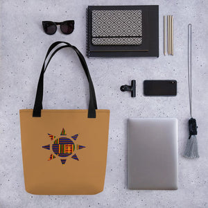 Sun Kente African Print Tote bag YaYa+Rule