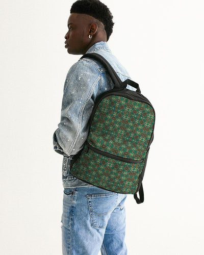 Teal African African Print Small Canvas Backpack YaYa+Rule