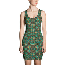 Load image into Gallery viewer, Teal African Print Dress YaYa+Rule