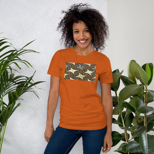 Yellow African Print Color Short-Sleeve Unisex T-Shirt YaYa+Rule