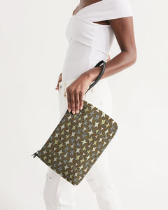 Yellow Brown African Print Daily Zip Pouch YaYa+Rule