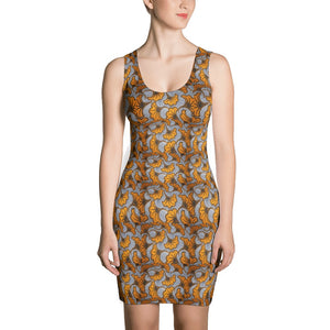 Yellow Flower African Print Dress YaYa+Rule