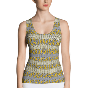 Yellow Gray African Print Tank Top YaYa+Rule