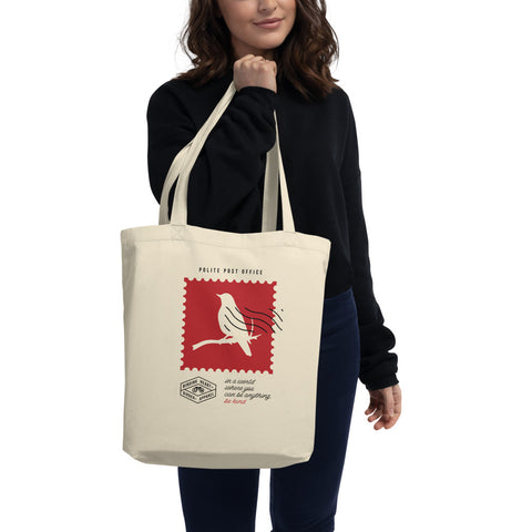 Be Kind Postage Stamp Eco Tote Bag