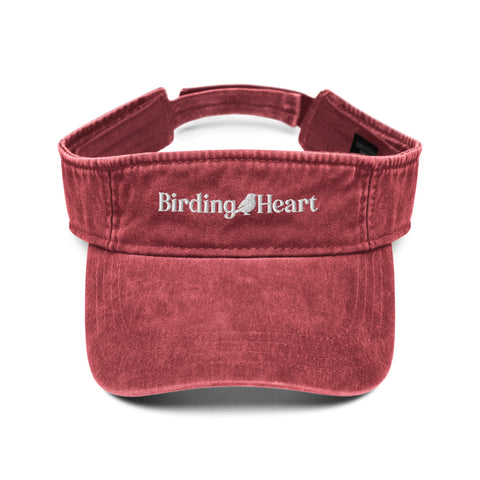 Birding Heart Logo Denim Visor