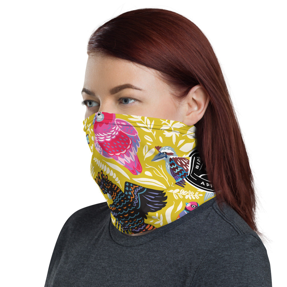 Happy Feathers Yellow Neck Gaiter