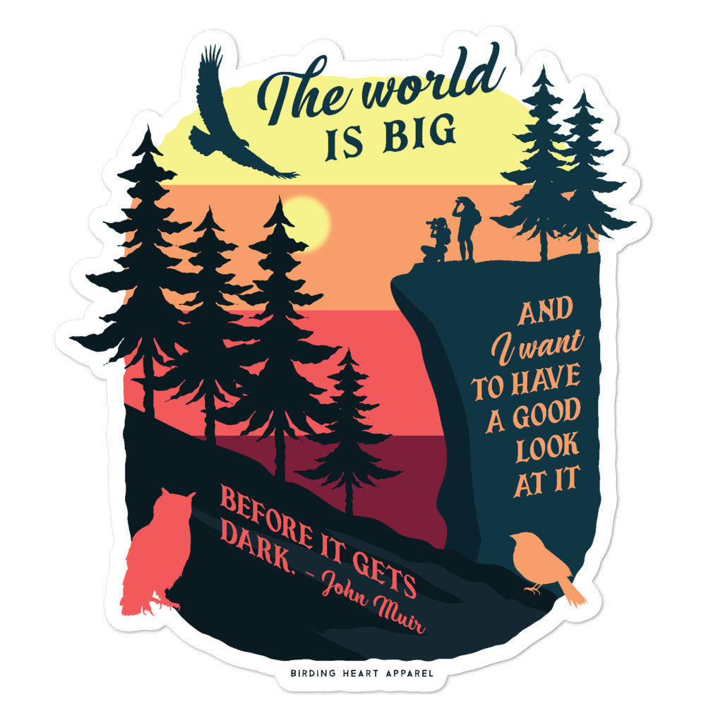 The World Is Big Stickers