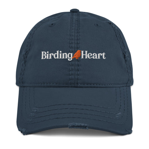 Birding Heart Distressed Dad Hat
