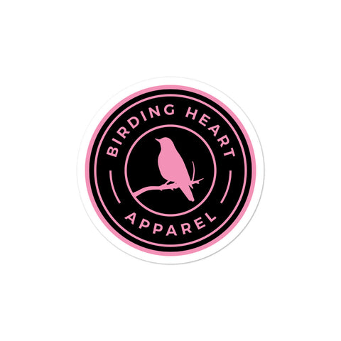 Birding Heart Stickers