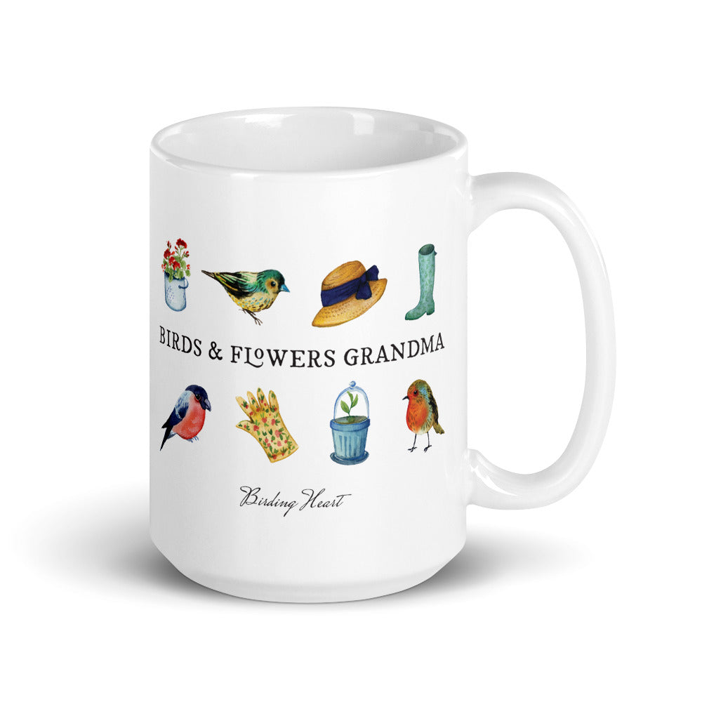 Birds & Flowers Grandma Mug