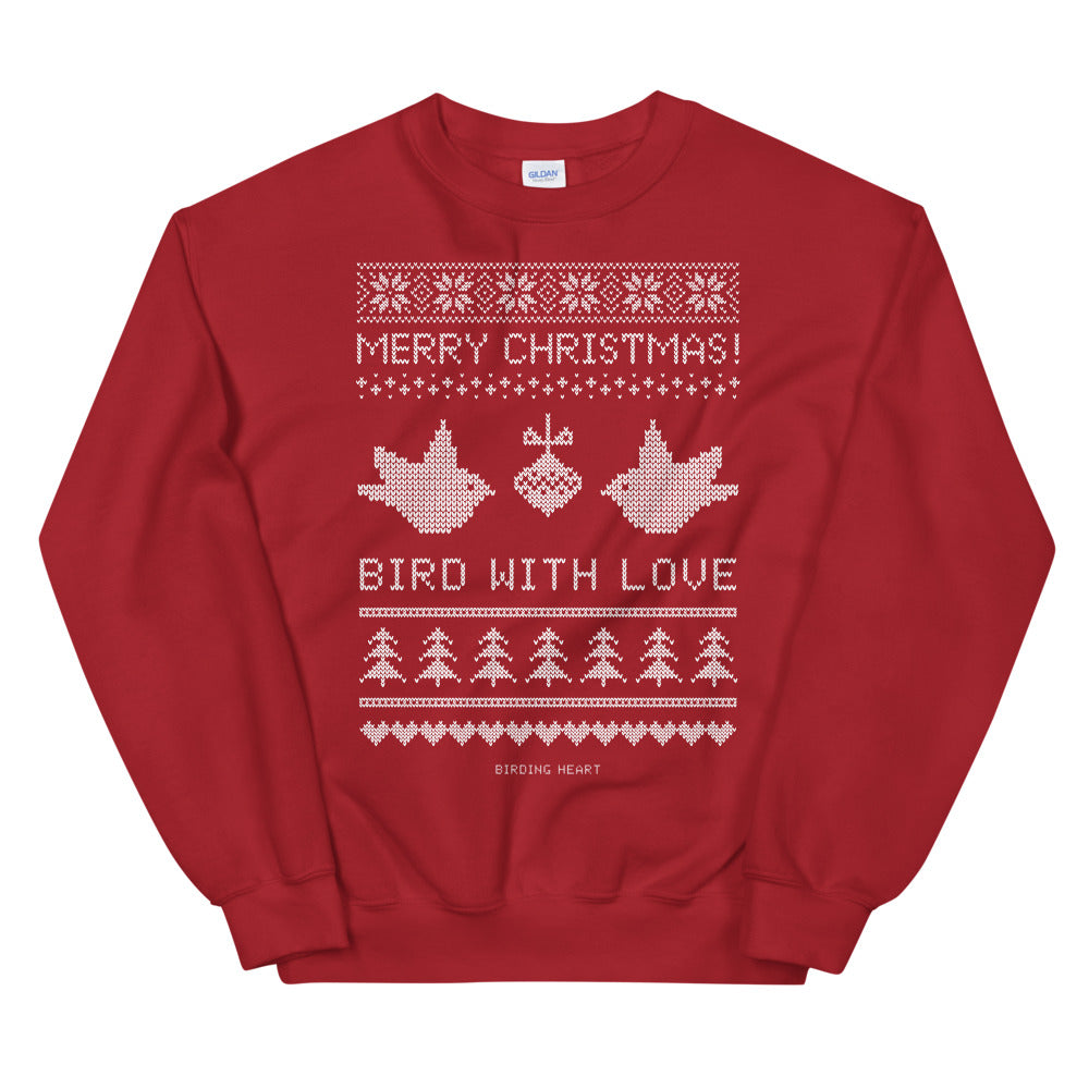 Bird With Love Christmas Sweatshirt