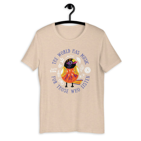 The World Has Music Heather Tee
