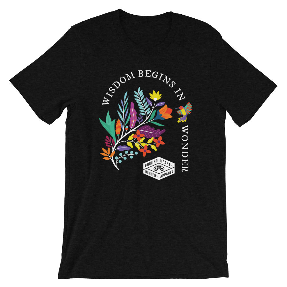 Wisdom Begins in Wonder Dark Tee