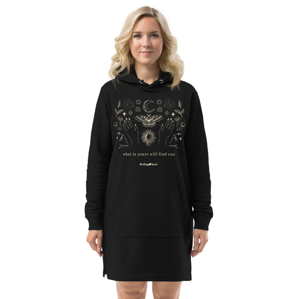 Moth What Is Yours Will Find You Hoodie Dress