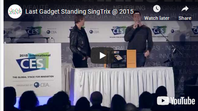 #Singtrix Innovation Award Winner gets 4th place at #CES LastGadgetStanding