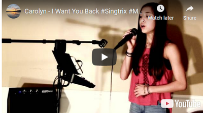 "Carolyn (12) Cover - ""I Want You Back"" by Michael Jackson with Singtrix"
