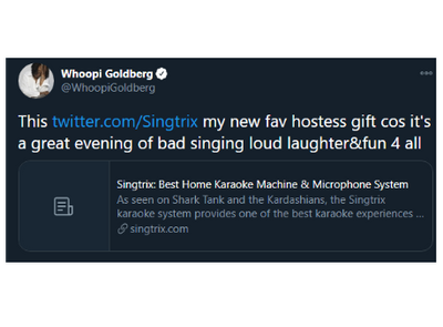 @WhoopiGoldberg has joined the Singtrix community